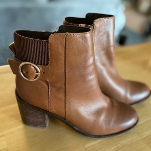 Aldo tan ankle booties